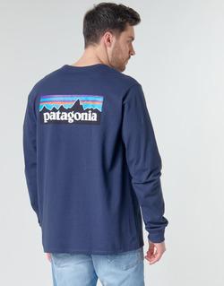 Odjeća Muškarci  Majice dugih rukava Patagonia M's L/S P-6 Logo Responsibili-Tee Blue