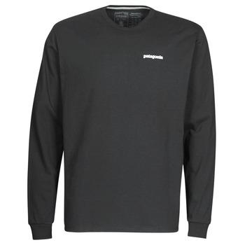 Odjeća Muškarci  Majice dugih rukava Patagonia M's L/S P-6 Logo Responsibili-Tee Crna