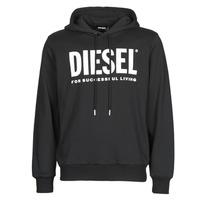 Odjeća Muškarci  Sportske majice Diesel GIR-HOOD-DIVISION Crna
