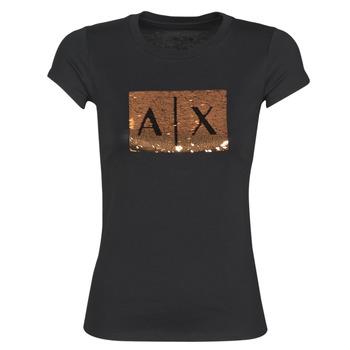 Odjeća Žene  Majice kratkih rukava Armani Exchange HONEY Crna
