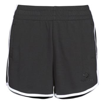 Odjeća Žene  Bermude i kratke hlače Converse Twisted Varsity Short Crna