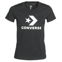 Odjeća Žene  Majice kratkih rukava Converse Star Chevron Tee Converse / Crna