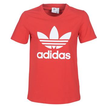 Odjeća Žene  Majice kratkih rukava adidas Originals TREFOIL TEE Red / Luxuriant