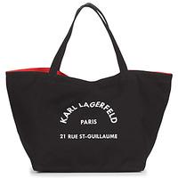 Torbe Žene  Shopper torbe Karl Lagerfeld RUE ST GUILLAUE CANVAS TOTE Crna