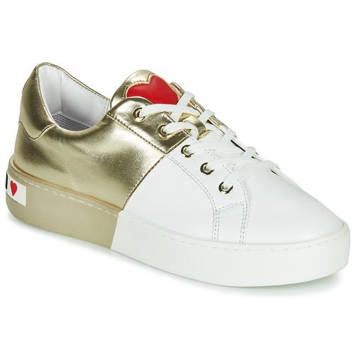 Obuća Žene  Niske tenisice Love Moschino BI-COLOR SHOES Bijela / Gold