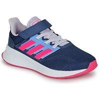 Obuća Djevojčica Niske tenisice adidas Performance RUNFALCON C Blue / Ružičasta