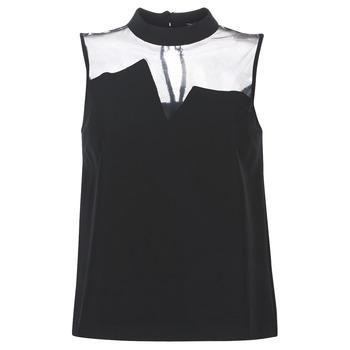 Odjeća Žene  Topovi i bluze Guess SL MAYA TOP Crna