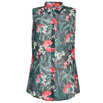 Odjeća Žene  Topovi i bluze Guess SL CLOUIS SHIRT Crna / Zelena / Red