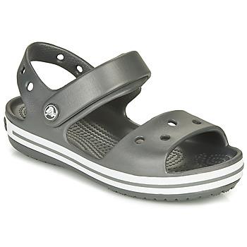 Obuća Djeca Sportske sandale Crocs CROCBAND SANDAL KIDS Crna / Bijela