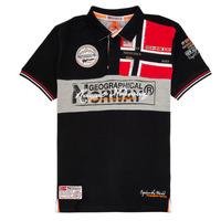 Odjeća Dječak  Polo majice kratkih rukava Geographical Norway KIDNEY Crna
