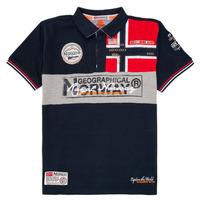 Odjeća Dječak  Polo majice kratkih rukava Geographical Norway KIDNEY Blue