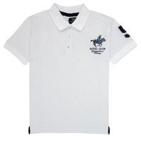 Odjeća Dječak  Polo majice kratkih rukava Geographical Norway KAMPAI Bijela