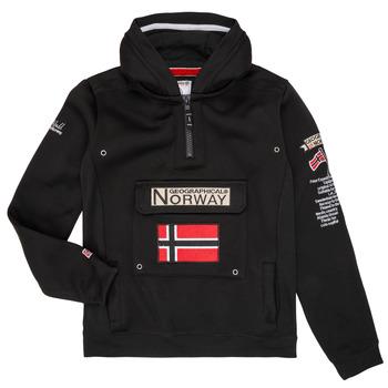 Odjeća Dječak  Sportske majice Geographical Norway GYMCLASS Crna