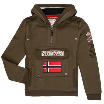 Odjeća Dječak  Sportske majice Geographical Norway GYMCLASS Kaki