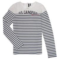 Odjeća Djevojčica Majice dugih rukava Ikks DELLYSE Bijela / Crna