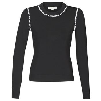 Odjeća Žene  Puloveri MICHAEL Michael Kors MK TRIM LS CREW Crna