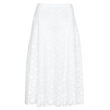 Odjeća Žene  Suknje MICHAEL Michael Kors FLORAL EYLT LNG SKIRT Bijela