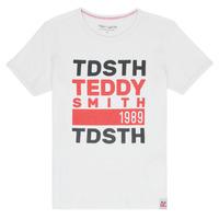 Odjeća Dječak  Majice kratkih rukava Teddy Smith DUSTIN Bijela