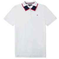 Odjeća Dječak  Polo majice kratkih rukava Tommy Hilfiger KB0KB05658 Bijela