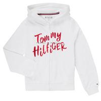 Odjeća Djevojčica Sportske majice Tommy Hilfiger KG0KG05043 Bijela