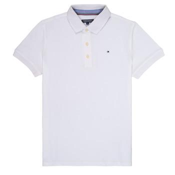 Odjeća Dječak  Polo majice kratkih rukava Tommy Hilfiger KB0KB03975 Bijela