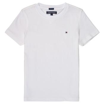 Odjeća Dječak  Majice kratkih rukava Tommy Hilfiger KB0KB04140 Bijela
