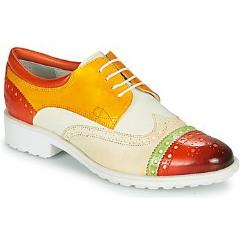 Obuća Žene  Derby cipele Melvin & Hamilton AMELIE 85 Bijela / Žuta / Smeđa
