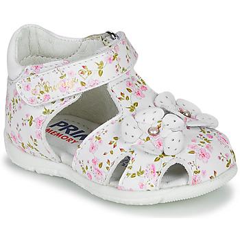 Obuća Djevojčica Sandale i polusandale Primigi 5401300 Bijela / Ružičasta