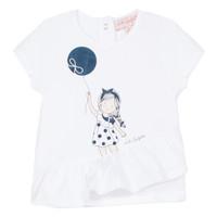 Odjeća Djevojčica Majice kratkih rukava Lili Gaufrette NALIOS Bijela