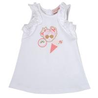 Odjeća Djevojčica Kratke haljine Lili Gaufrette NAVETTE Bijela