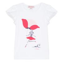 Odjeća Djevojčica Majice kratkih rukava Lili Gaufrette KATINE Bijela