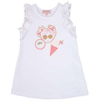 Odjeća Djevojčica Kratke haljine Lili Gaufrette SAMI Bijela
