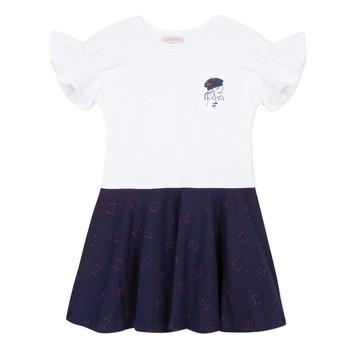 Odjeća Djevojčica Kratke haljine Lili Gaufrette MENDI Bijela