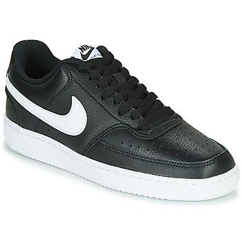 Obuća Žene  Niske tenisice Nike COURT VISION LOW Crna / Bijela