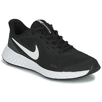 Obuća Djeca Niske tenisice Nike REVOLUTION 5 GS Crna / Bijela