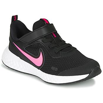 Obuća Djevojčica Multisport Nike REVOLUTION 5 PS Crna / Ružičasta