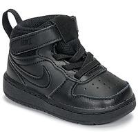 Obuća Djeca Visoke tenisice Nike COURT BOROUGH MID 2 TD Crna