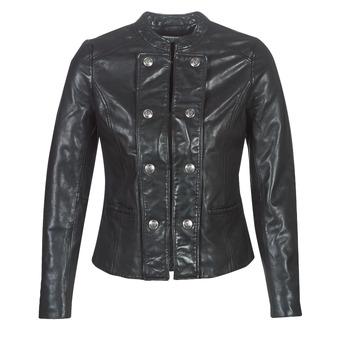Odjeća Žene  Kožne i sintetičke jakne Naf Naf CMILI Crna