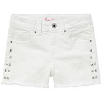 Odjeća Djevojčica Bermude i kratke hlače Pepe jeans ELSY Bijela