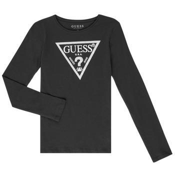 Odjeća Djevojčica Majice dugih rukava Guess GARICE Crna