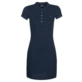 Odjeća Žene  Kratke haljine Tommy Hilfiger HERITAGE SLIM POLO DRS Blue