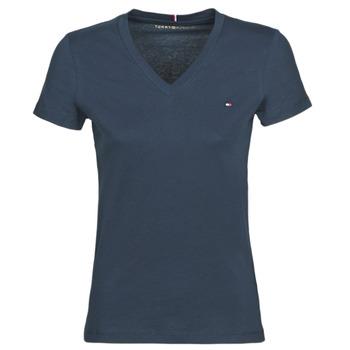 Odjeća Žene  Majice kratkih rukava Tommy Hilfiger HERITAGE V-NECK TEE Blue