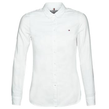Odjeća Žene  Košulje i bluze Tommy Hilfiger HERITAGE REGULAR FIT SHIRT Bijela