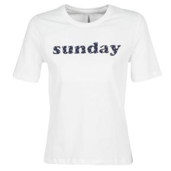 Odjeća Žene  Majice kratkih rukava Only ONLSANNE Bijela