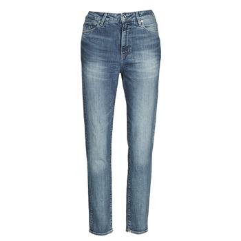 Odjeća Žene  Traperice ravnog kroja G-Star Raw 3301 HIGH STRAIGHT 90'S ANKLE WMN Blue