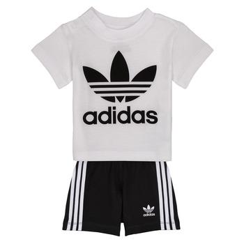 Odjeća Djeca Dječji kompleti adidas Originals CAROLINE Bijela / Crna