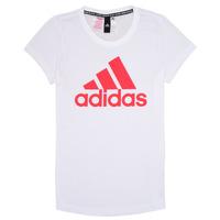 Odjeća Djevojčica Majice kratkih rukava adidas Performance ELIOTE Bijela