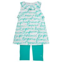 Odjeća Djevojčica Dječji kompleti Emporio Armani Adel Bijela / Blue