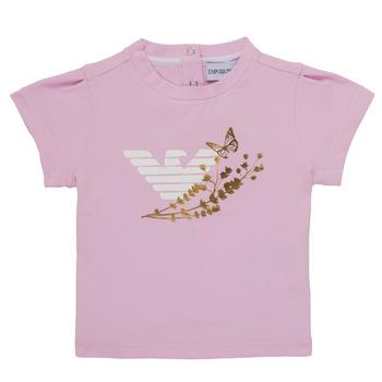 Odjeća Djevojčica Majice kratkih rukava Emporio Armani Adrian Ružičasta