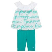 Odjeća Djevojčica Dječji kompleti Emporio Armani Alex Bijela / Blue